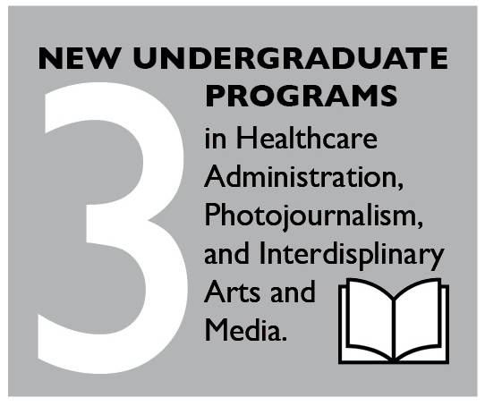 3 New Undergraduate Programs in Healthcare Administration, Photojournalism, and Interdisciplinary Arts and Media