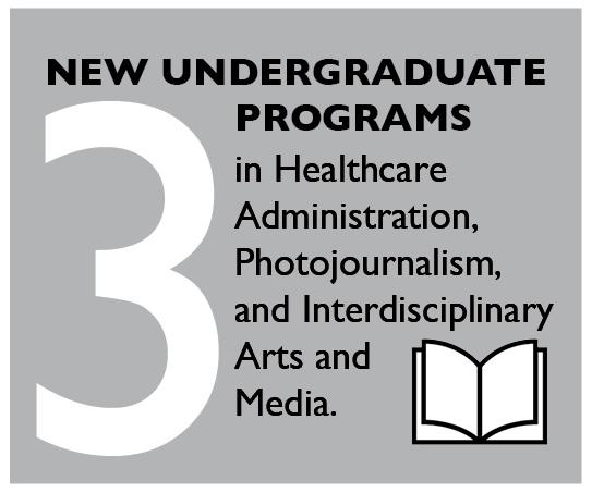 3 New Undergraduate Programs